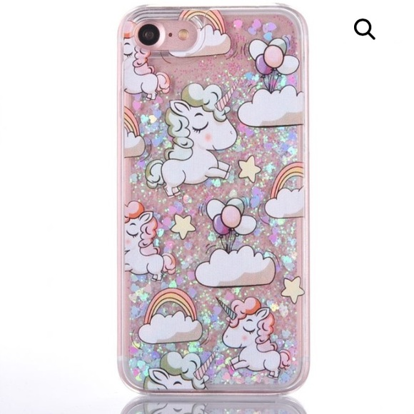 Glitter Unicorn Iphone 6 Case - Other